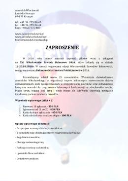Zaproszenie na XVI MWZB 2016 – wersja z dnia 14.06.2016