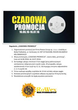 czadowa promocja - Rowex Group Sp. z oo
