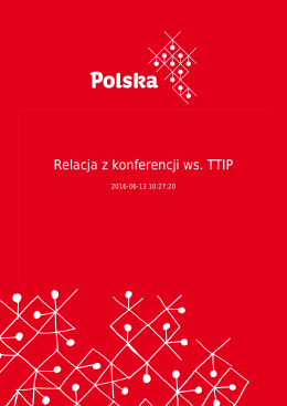 Relacja z konferencji ws. TTIP