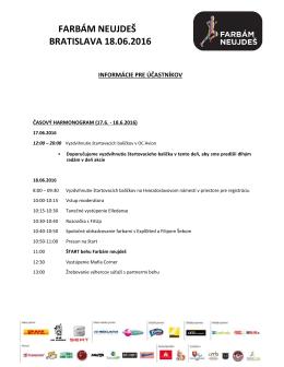 Informácie pre účastníkov 18.6.2016
