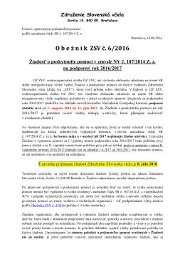 Obeznik-ZSV-6-2016-Ziadost-o-poskytnutie