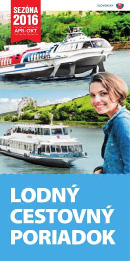 lodný cestovný poriadok - Slovenská plavba a prístavy