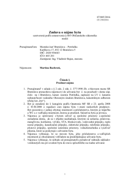 Zmluva č. 250/2016 - Martina Bachratá