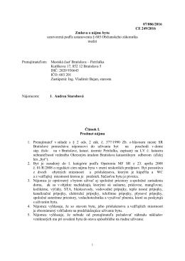 Zmluva č. 249/2016 - Andrea Starobová