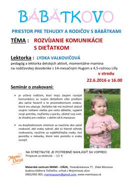 bábätkovo - Materské centrum Mami