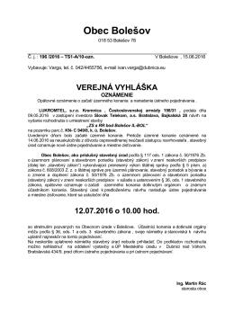 145 kB - Obec Bolešov