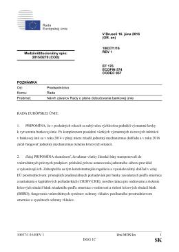 10037/1/16 REV 1 kbu/MDS/kn 1 DGG 1C RADA EURÓPSKEJ ÚNIE