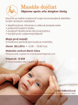 2-hodinový seminár pre budúce mamičky