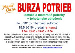 15.6.2016 Burza potrieb - Materské centrum Mami