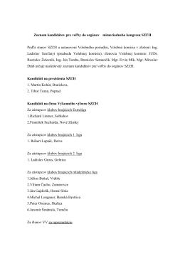 Zoznam kandidátov pre voľby do orgánov mimoriadneho kongresu