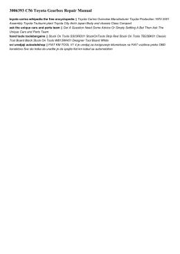 3006393 c56 toyota gearbox repair manual