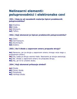 Nelinearni elementi: poluprovodnici i elektronske cevi
