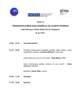 Agenda Kragujevac