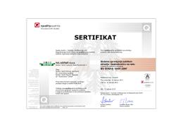 ISO 18001 - Kamenolom Ostreš – Kamen visokog kvaliteta
