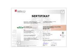 ISO 9001 - Kamenolom Ostreš – Kamen visokog kvaliteta
