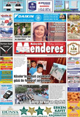 Birgi`de Kur`an ziyafeti - Küçük Menderes Gazetesi
