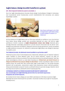 Saglik_Bakani_Akdag - Prof. Dr. Ahmet SALTIK