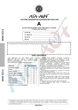 2016CS22-6 2016CS22-6 - Atatürk Üniversitesi Açıköğretim Fakültesi