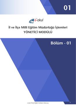 02 Yönetici Modülü - Bursa İl Milli Eğitim Müdürlüğü