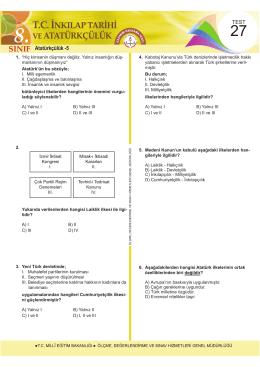 Atatürkçülük -5 - Ölçme, Değerlendirme ve Sınav Hizmetleri Genel