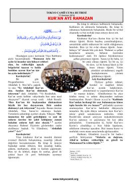 kur`an ayı ramazan