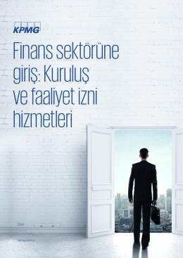 Finans Sektörüne Giriş: Kuruluş ve Faaliyet izni Hizmetleri