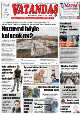 11 Haziran - Vezirköprü Vatandaş Gazetesi
