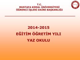 Slayt 1 - Mustafa Kemal Üniversitesi
