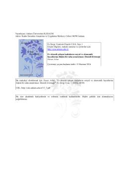 Denizli İli Örneği - Fe Dergi