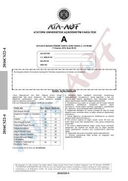 2016CS22-4 2016CS22-4 - Atatürk Üniversitesi Açıköğretim Fakültesi