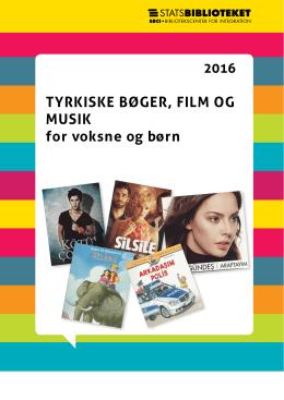 TYRKISKE BØGER, FILM OG MUSIK for voksne og
