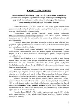 kamuoyuna duyuru - Marmara Üniversitesi