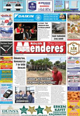 14 Haziran 2016 - Küçük Menderes Gazetesi