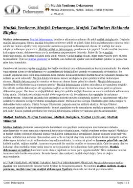 PDF Dökümanı - Genel Dekorasyon