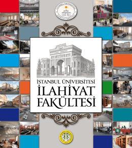 Fakültemizin Tanıtım Kitabı - İstanbul Üniversitesi | İlahiyat Fakültesi