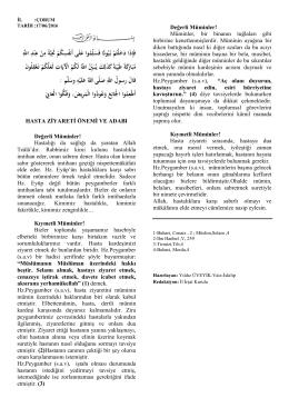 17.0.2016-HASTA ZİYARETİ ÖNEMİ VE ADABI