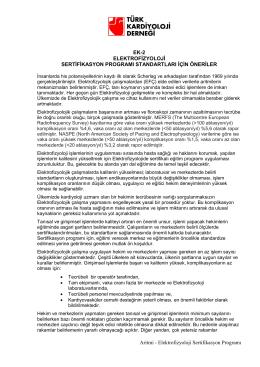 TKD Elektrofizyoloji Sertifikasyon Programı