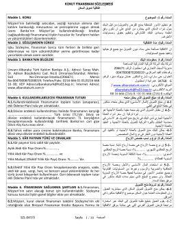 Madde 1 - AlBaraka