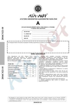2016CS22-10 2016CS22-10 - Atatürk Üniversitesi Açıköğretim