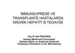 immunsuprese ve transplante hastalarda kronik hepatit b