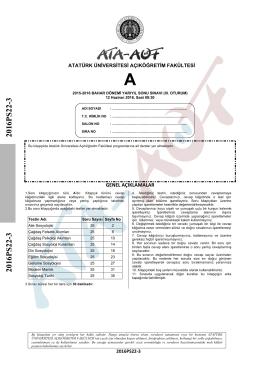 2016PS22-3 2016PS22-3 - Atatürk Üniversitesi Açıköğretim Fakültesi