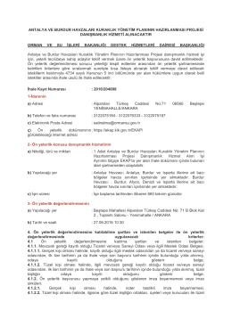 antalya ve burdur havzaları kuraklık yönetim planının hazırlanması
