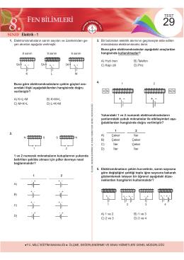 Elektrik - 1 + - Ölçme, Değerlendirme ve Sınav Hizmetleri Genel
