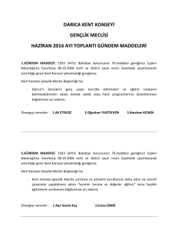 kent konseyi gençlik meclisi haziran ayı 2016 meclis kararları