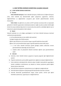 6. sınıf intörn hekimlik komisyonu çalışma esasları