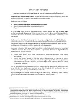İSTANBUL AYDIN ÜNİVERSİTESİ SEMİNER/KONGRE