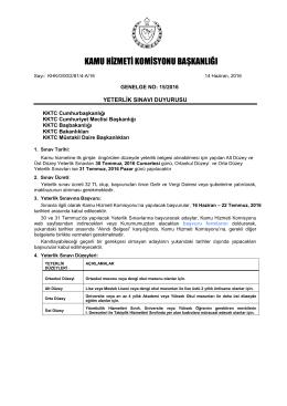 Yeterlik Sınavı - Kamu Hizmeti Komisyonu