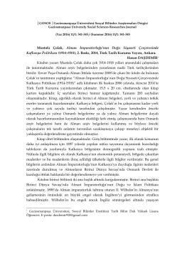 Full Text - Gaziosmanpaşa Üniversitesi