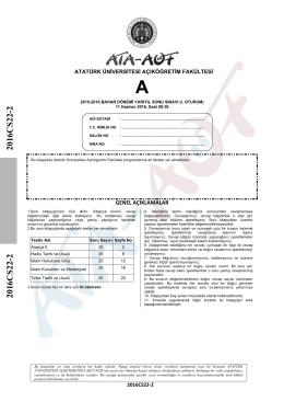 2016CS22-2 2016CS22-2 - Atatürk Üniversitesi Açıköğretim Fakültesi