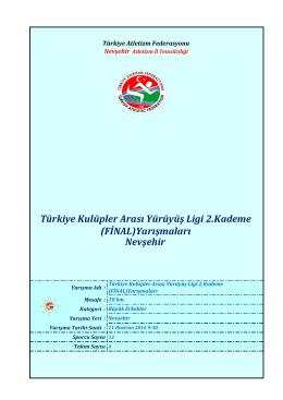 Büyük Erkekler - Türkiye Atletizm Federasyonu